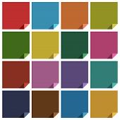 16 retro colored blank square