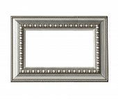 Vintage Silver Frame Isolated