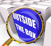 Outside The Box Packet Means To Think Creatively And Conceptuali