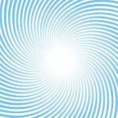 Rotating blue rays