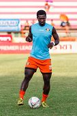 Sisaket Thailand-may 28: Godwin Antwi Of Sisaket Fc. In Action During A Training Ahead Thai Premier