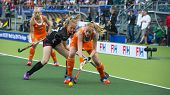THE HAGUE, NETHERLANDS - JUNE 2: Dutch Maasakker is is playing the ball when Belgium player Boon is