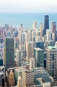 Aerial view of Chicago City downtown