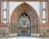 Entrance to the Cathedral St. Nikolai in Stralsund