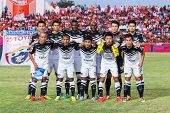 Sisaket Thailand-may 28: Players Of Chonburi Fc. Pose For A Team Picture Prior To Thai Premier Leagu