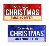Be Ready For Christmas Coupon, Voucher, Tag