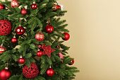image of twinkle  - Decorated Christmas tree closeup - JPG