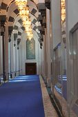 Sultan Qaboos Grand Mosque, indoor corridor