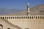 stock photo of oman  - Nizwa Fort Castle - JPG