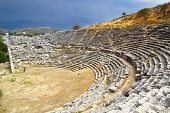 Ruins Of Ancient Theater In Letoon.