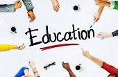Multi-Ethnic Group of People and Education Concept