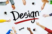 Multi-Ethnic Group of People and Design Concepts