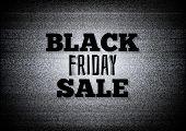 Tv Commercial Black Friday Sale Vector Illustration