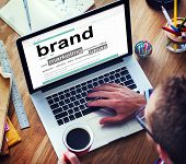 Digital Dictionary Brand Marketing Ideas Concept