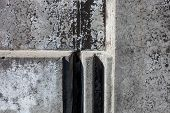 Grey Concrete Blocks Surface