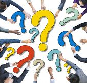 Group of Diverse Business People with Question Marks