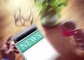 Digital Online Report Update News Concept