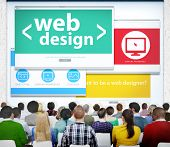 Web Design Online Learning Seminar Technology Website Concept