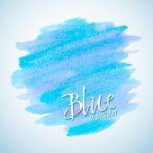 Blue Watercolor Stain Design Element