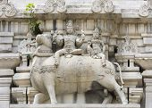 Lord Shiva And His Wife Parvati On Nandi The Bull.