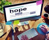 Digital Dictionary Hope Faith Pray Concept