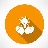idea in the hands icon