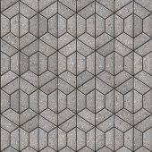 Openwork Gray Pavement Slabs.