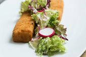 Fish Fingers With Green Lettuce