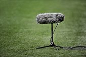 Boom Microphone On Soccer Field
