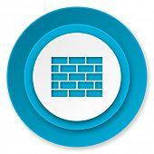 firewall icon, brick wall sign