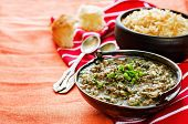Minced Lamb, Cooked With Spinach