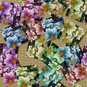 Multicoloured Flower Image Generated Seamless Texture