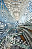 TOKYO, JAPAN - OCTOBER 28, 2014 Tokyo International Forum in Chiyoda Ward, Tokyo on October28, 2014. One of the largest convention center in Japan. Designed by Uruguayan architect, Rafaesl.