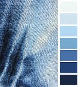 Blue denim jeans color complimentary chart