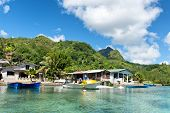 MAHE, SEYCHELLES - 19 OCTOBER 2014 - Port Launay village by the sea on Mahe Island, Seychelles 19 October 2014.