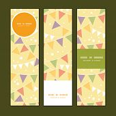 Vector party decorations bunting vertical banners set pattern background