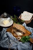 Jewish Breakfast With Herring Pate