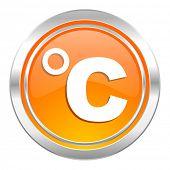 celsius icon, temperature unit sign