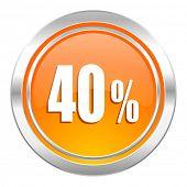 40 percent icon, sale sign