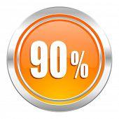 90 percent icon, sale sign