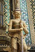 Giant Buddha In Grand Palace, Bangkok, Thailand