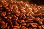 Fragrant hot coffee grains