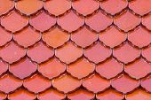 Patterned Tile Roof Church