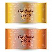 Set Gold Gift Coupon, Gift Card