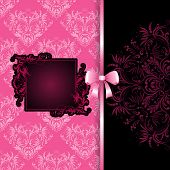Frame On Lace Background With Bow