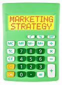 Calculator With Marketing Strategy Isolated