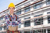 Confident Worker Wearing Toolbelt