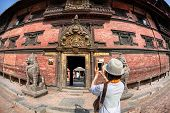 Tourist Taking Picture In Patan