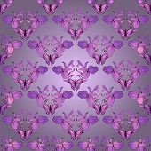 Filigree Damask Seamless With Butterfly