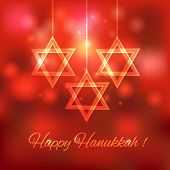 Happy Hanukkah blurred background